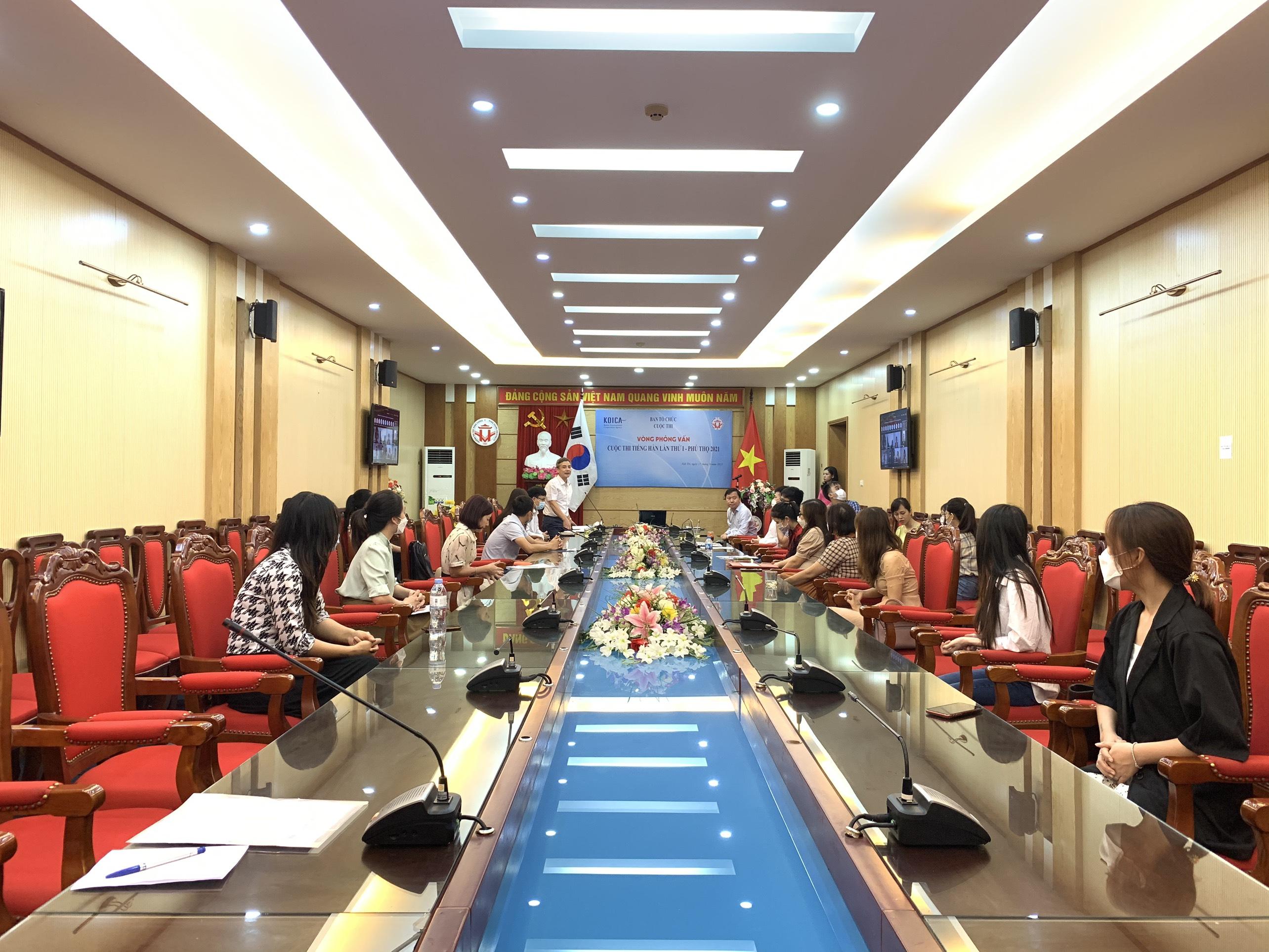 The first Korean Language Contest – Phu Tho 2021 organized successfully at Hung Vuong University