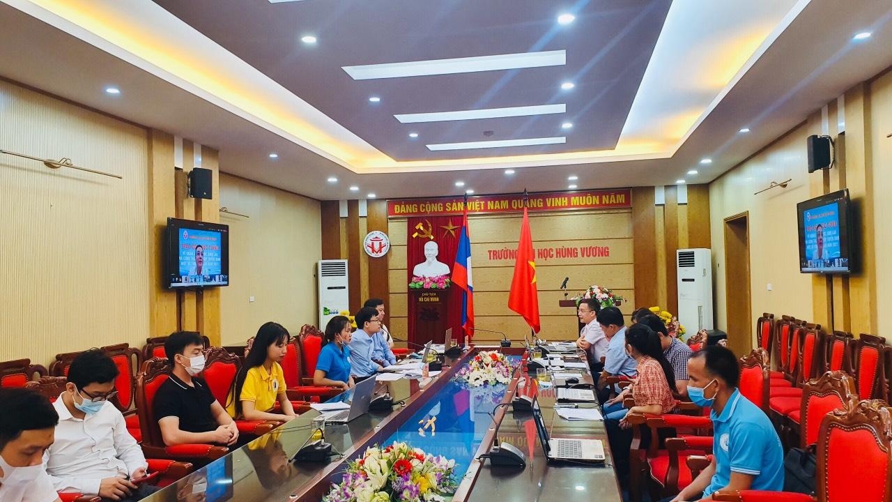 Online Graduation Ceremony for Laos new graduates of Master Degrees at Hung Vuong University